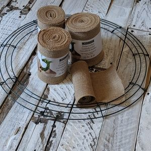 Burlap and wire crafting wreath bundle